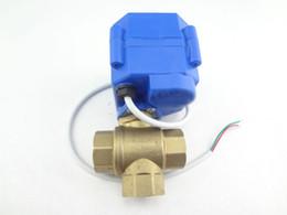 Wholesale 3 way motorized ball valve DN15 reduce port T port ball valve motorized valve