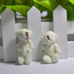Wholesale 4CM Plush Mini Lovely Teddy Bear Stuffed Animals Pendant For Keychain Bouquet jewellery accessory gift Urso De Pelucia Oso