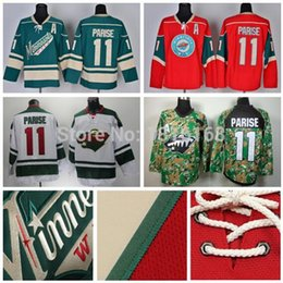 Wholesale Minnesota Wild Zach Parise Jersey Cheap Ice Hockey Jerseys Red Green White Digital Camo Best Stitching Quality