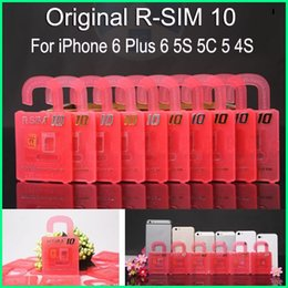 Wholesale Newest Official Original R SIM R sim RSIM Unlock Card for iphone plus S C S iOS7 X X Support Sprint ATT T mobile Cricke