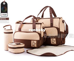 New Fashion High Quality Tote Baby Shoulder Diaper Durable Nappy Bag Mummy Mother Baby   bags for mom baby