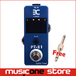 Wholesale ENO PT Mini Pedal Tuner True Bypass Guitar Effect Pedal Blue Free connector MU0126