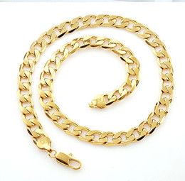 Wholesale best buy fine YellowGold jewelry Heavy Classic mens k yellow solid gold GF chain necklace in
