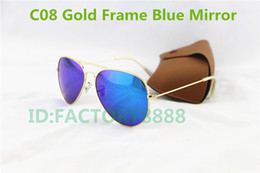 Wholesale Best Sell Brand Designer colorful Mirror Sunglasses Men s Women s beach mm Mirror Sunglass with box