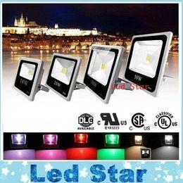Wholesale Outdoor Lighting W W W W RGB Led Floodlights Waterproof Led Flood Light Landscape Wall Lamp AC V ce ul DLC