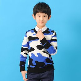 Wholesale-Boys Sweater Vestido free Shipping Autumn spring New Boy Camouflage Sweaters Leisure for Children kids Clothes L0091