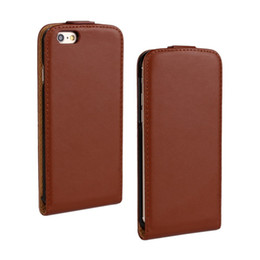 For iPhone 6 6S Plus Texture Elegant Genuine Flip Leather Case