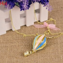 Wholesale 2015 Necklace Hot New Fashion Jewelry Colorful Aureate Drip Hot Air Balloon Pendant Party Rainbow Long Necklace For Dress Coats Sweater