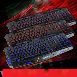 Wholesale New Fashion Wired Three Color Backlight Flyingcolors Mechanical Touch Computer Smart TV Gaming Keyboard Game Advanced Keyboard