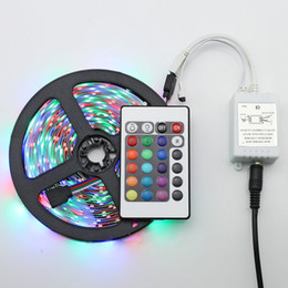 New 5M Flexible RGB LED Light Strip 16ft 5050 SMD 5M 300 LEDs Waterproof IR REMOTE Controller with 2A Power Supply