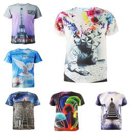 2016 shirt de douille d'impression des animaux gros T-shirt à manches courtes T-shirt à manches courtes shirt de douille d'impression des animaux gros sur la vente