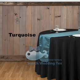 Banquet Table Runner \ Organza Table Runner For Wedding - Turquoise Color