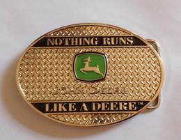Wholesale THE FASHION JOHN DEERE With Pewter Sliver belt buckle with pewter finish suitable for cm wideth belt with continous stock