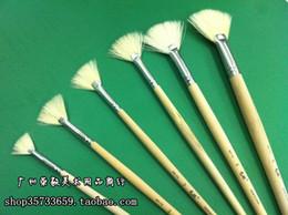 Wholesale-Bw-112 6 set professional fan-shaped gouache pen fan pen oil painting pen