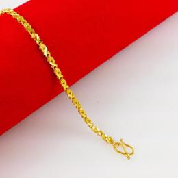 Fast Free Shipping Fine 24k gold heart-shaped bracelet , women's bracelets 3cm * 18cm