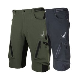 Wholesale Arsuxeo Casual Baggy Shorts MTB Bike Bicycle Shorts Breathable Loose Fit Outdoor Sports Cycling Shorts with Zippered Pockets Y0184
