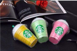 Wholesale 2016 Starbucks power bank mAh portable charger For iphone plus External backup battery HOT SALE