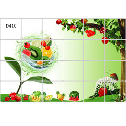 Wholesale New Large Size Kitchen Stickers Rang Hood Background Tile Oil proof Stickers Home Wall Decor aluminium foil