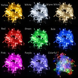 Wholesale New Christmas Xmas Light meters LEDs LED String lights flash window curtain V V Holiday Wedding Party Light With Connector
