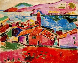 Wholesale Painting on canvas Vista de Collioure by Henri Matisse High quality Hand painted