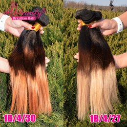 2016 Hot SellingBrazillian Ombre Straight Hair 3 Bundle Deals Blonde Silky Straight Ombre Virgin Hair Cheap 3pc
