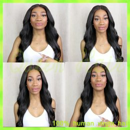Brazilian Virgin Hair Wig Right Part Full Lace Human Hair Wigs Lace Front Wig 130% Density Black Wavy