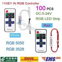 Wholesale 100PCS By DHL DC5 V A Mini RF Dimmer Controller Keys RF Remote Control for Single Color LED Strip Flexible Light