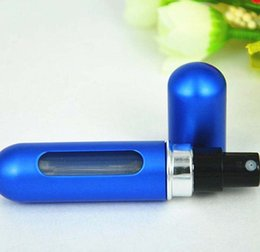 Atomizadores al por mayor en Línea-Por DHL 5ML botellas de aerosol de aluminio al por mayor del perfume atomizador envases cosméticos En existencia