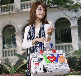 Wholesale Braccialini s same designer Italy LOVE cartoon women s handbag fashion color block canvas bag handbags big bags NOT braccialini