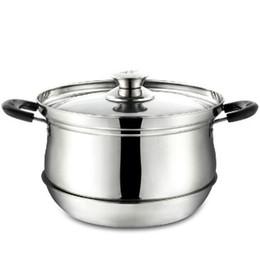 Wholesale Stainless pot cm cooking pot multifunction stock pan Heat preservation Saving pot cooking tool Q