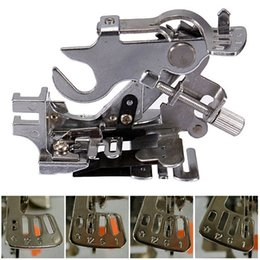 Wholesale 2015 High Quality Generic Sewing Machine Ruffler Presser Foot for Brother Babylock White Low Shank
