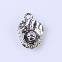New fashion silver copper retro Baseball glove pendant Manufacture DIY jewelry pendant fit Necklace or Bracelets charm 100pcs lot 4987x