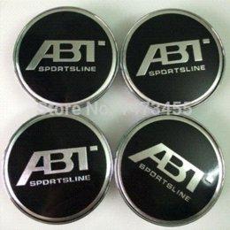 Wholesale Drop Shipping VW ABT Logo ABT Wheel Caps Wheel Covers Emblem set MM Diameter