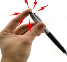 Wholesale Funny Pen Electric Shock Joke Prank Trick Toy Surprise Gift QW