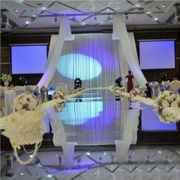 Wholesale 1 m Wide m Silver Double Side Wedding Ceremony Centerpieces Decoration Mirror Carpet Aisle Runner Party Supplies
