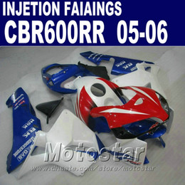 Blue red custom fairing! Injection Molding for HONDA CBR 600 RR fairing 2005 2006 cbr600rr 05 06 cbr 600rr fairings kit QBY3