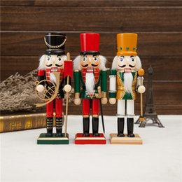 Wholesale 3pcs New coming Home decoration gift toys Wooden Nutcracker Royal guard solider doll