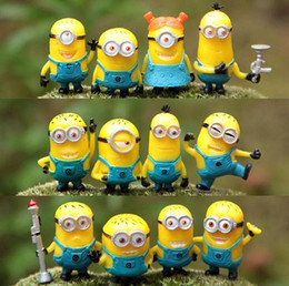 Wholesale New Toy Set Set Despicable Me Minions in Action Figures Minions Toys Doll Retail Lovely Plush Toys Girls Gifts MYF242