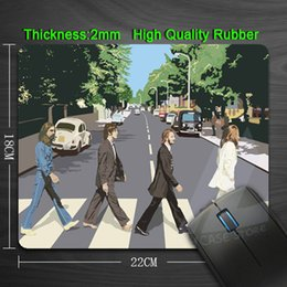 Wholesale Vintage Picture Band The Beatles Silicon Anti slip Mouse Mats for PC Computer Laptop Notbook Gaming Mouse mat