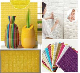 baby protect and water proof 3D foam Mural wall panels poster easy clean 3D Brick wall board