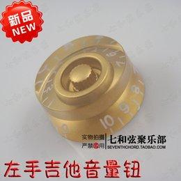 Gold body white words left hand electric guitar volume knob guitar timbre knob guitar potentiometer cap