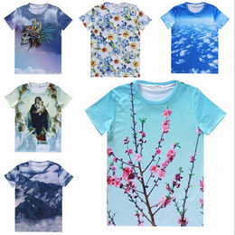 Wholesale- [joslyn] 2015 New Cartoon T-shirt Hommes 3D Animal T-shirt Tie Dye Imprimé Super Cool Sumer Funny T-shirt à manches courtes Fit Top à partir de shirt de douille d'impression des animaux gros fabricateur