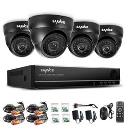 Wholesale SANNCE Indoor Outdoor IR Home Surveillance Camera System CH H HDMI DVR for outdoor and indoor