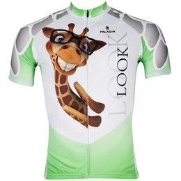 Wholesale Giraffes Thermal Riding Leisure Cycling Jersey Short Sleeve Cycling Tights Breathable Fabric Antimicrobial Quick Dry Cycling