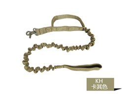 US Army Tactical Quick Release Heavy Duty Panic Snap Adjustable rope strap Leashes Dog training Leads belt 1000D Nylon camo