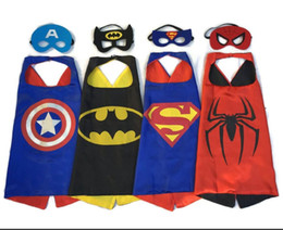 Wholesale Hot Superhero Dress Up Costumes Satin Capes and Felt Masks best gift for kids toy