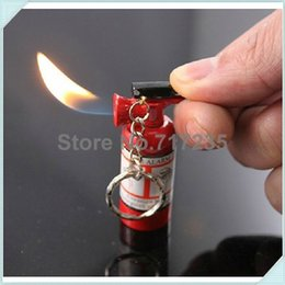 Wholesale Mini Fire Extinguisher Lighter KeyChain Butane Lighters With Key Ring Without Gas
