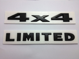Wholesale 2pcs Auto Tuning X Black d Decal Sticker Liberty Nameplate Badge Jeep Grand Cherokee Liberty Patriot LIMITED Rear Emblem Decal