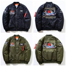 Wholesale Men coat KANYE WEST MA1 jackets limit edition black green colors flight parkas BOMBER Confederate Rebel Civil War Flag Jacket E334J