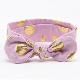 light purple Gold Metalic Polka Dot Knot Turban baby girls headband ,Bow knot girls accessory kids holiday headband